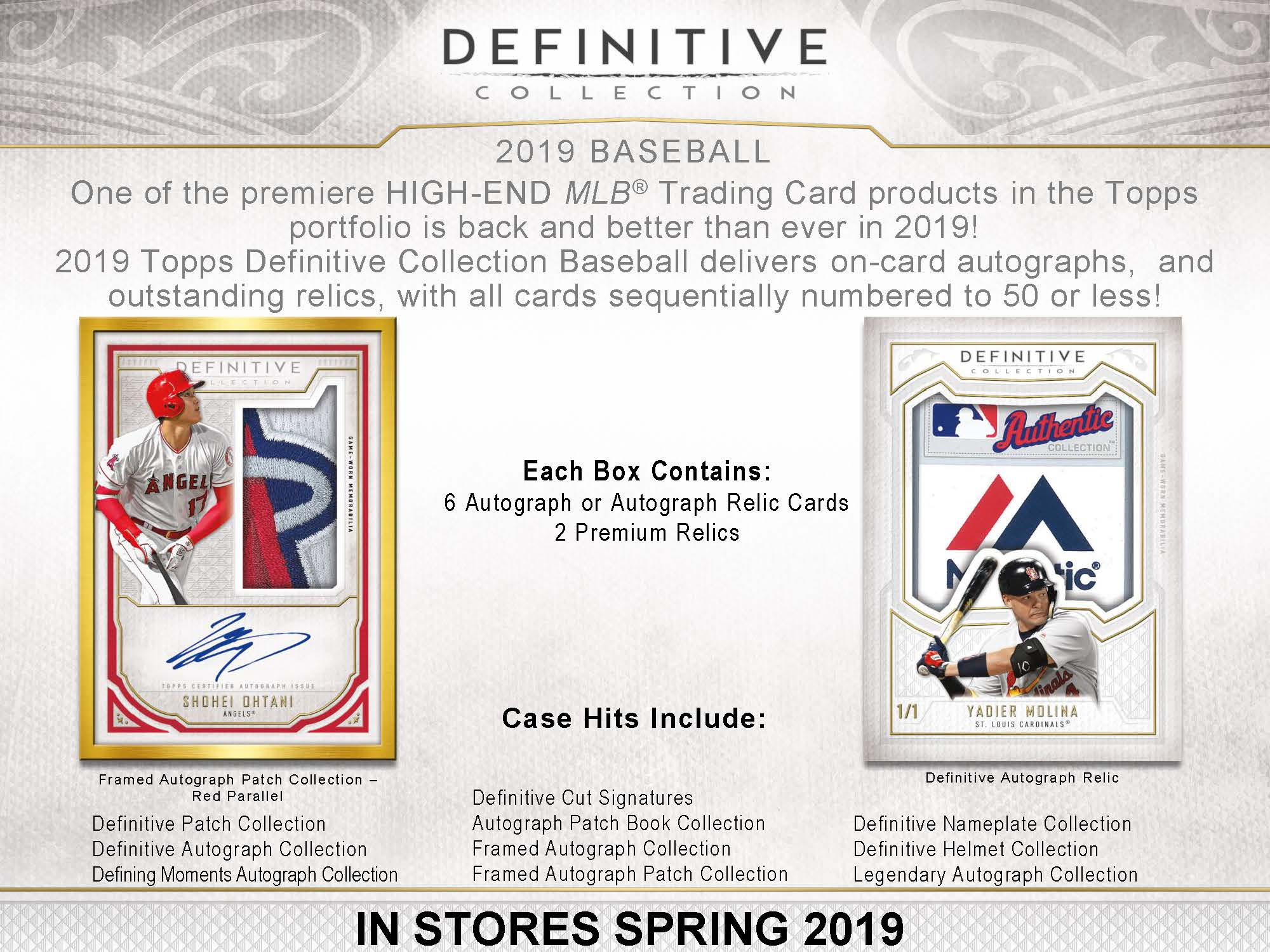 2019 Topps Definitive Collection Baseball Checklist