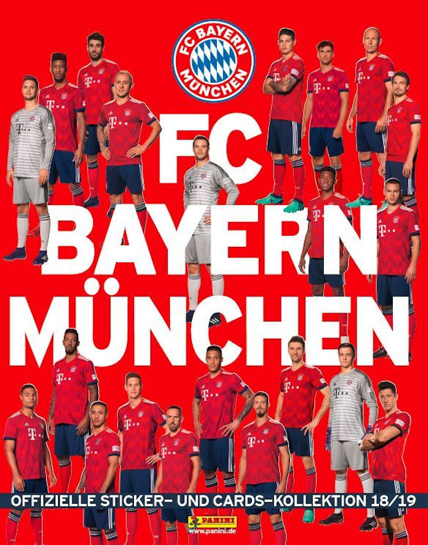 2018-19 Panini FC Bayern Munchen Stickers Cards Collection Checklist