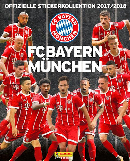 2017-18 Panini FC Bayern Munchen Stickers Collection Checklist