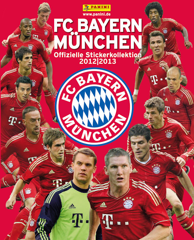 2012-13 Panini FC Bayern Munchen Stickers Collection Checklist