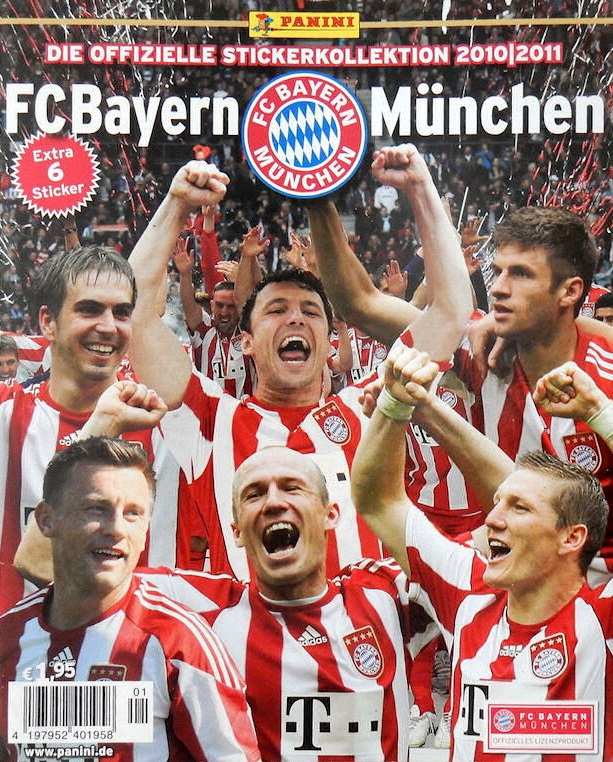 2010-11 Panini FC Bayern Munchen Stickers Collection Checklist