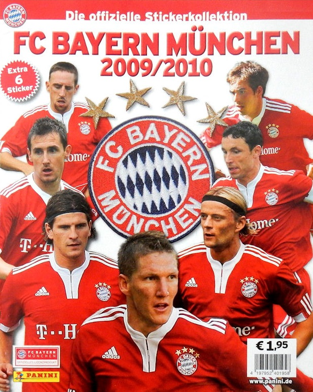 2009-10 Panini FC Bayern Munchen Stickers Collection Checklist