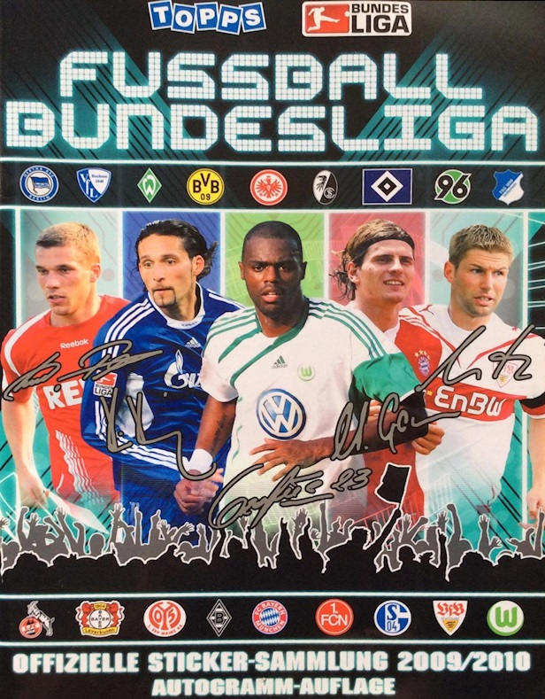 2009-10 Topps Bundesliga Sticker Collection Checklist