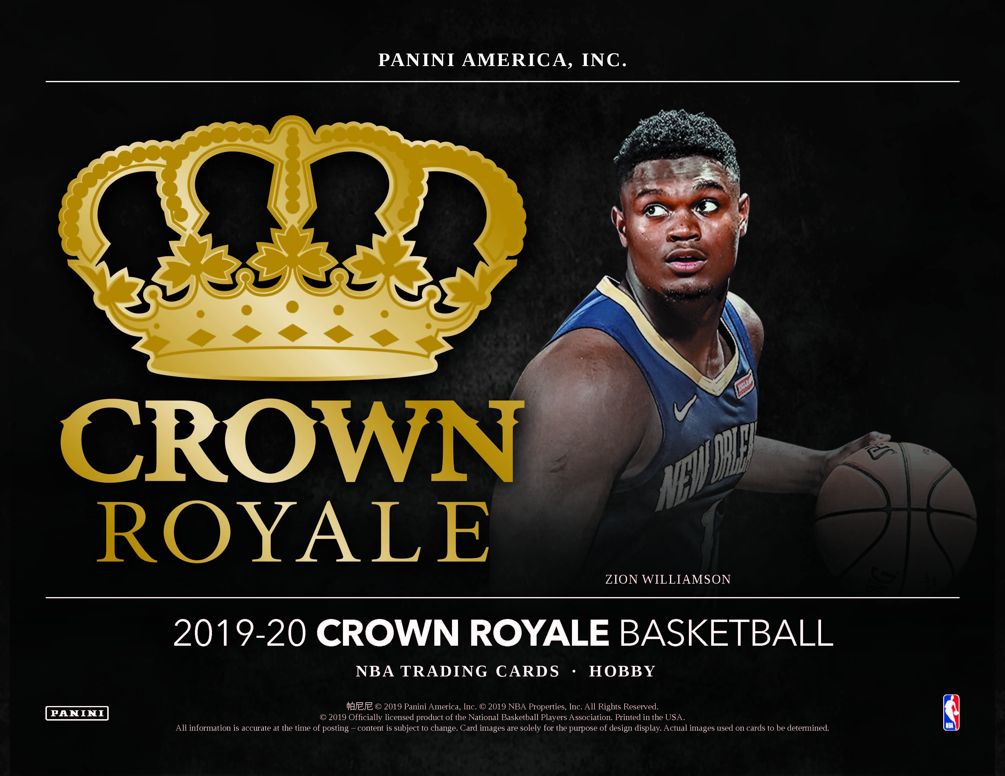 2019-20 Panini Crown Royale Basketball Checklist