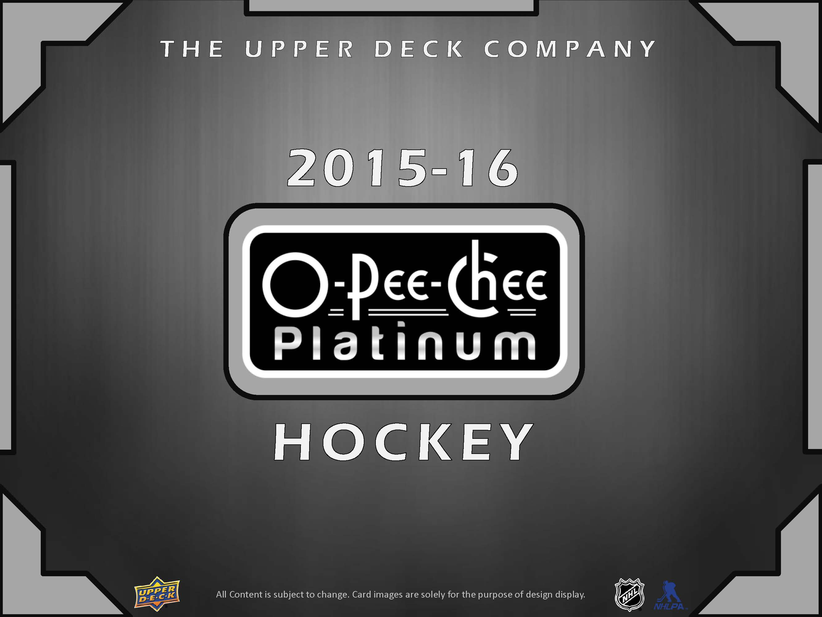 2015-16 O-Pee-Chee Platinum Hockey Checklist