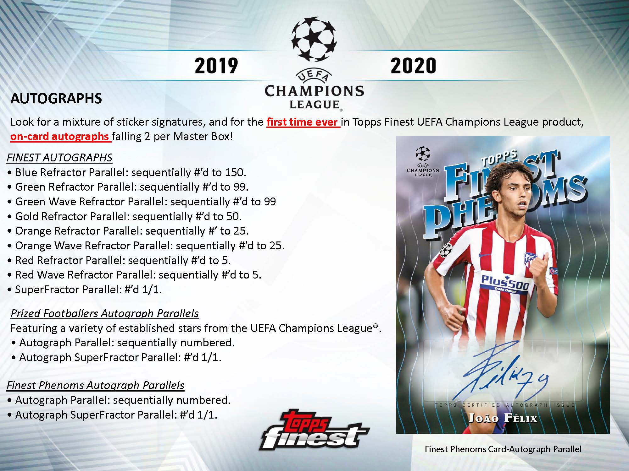 2019-20 Topps Finest UEFA Champions League Soccer Checklist