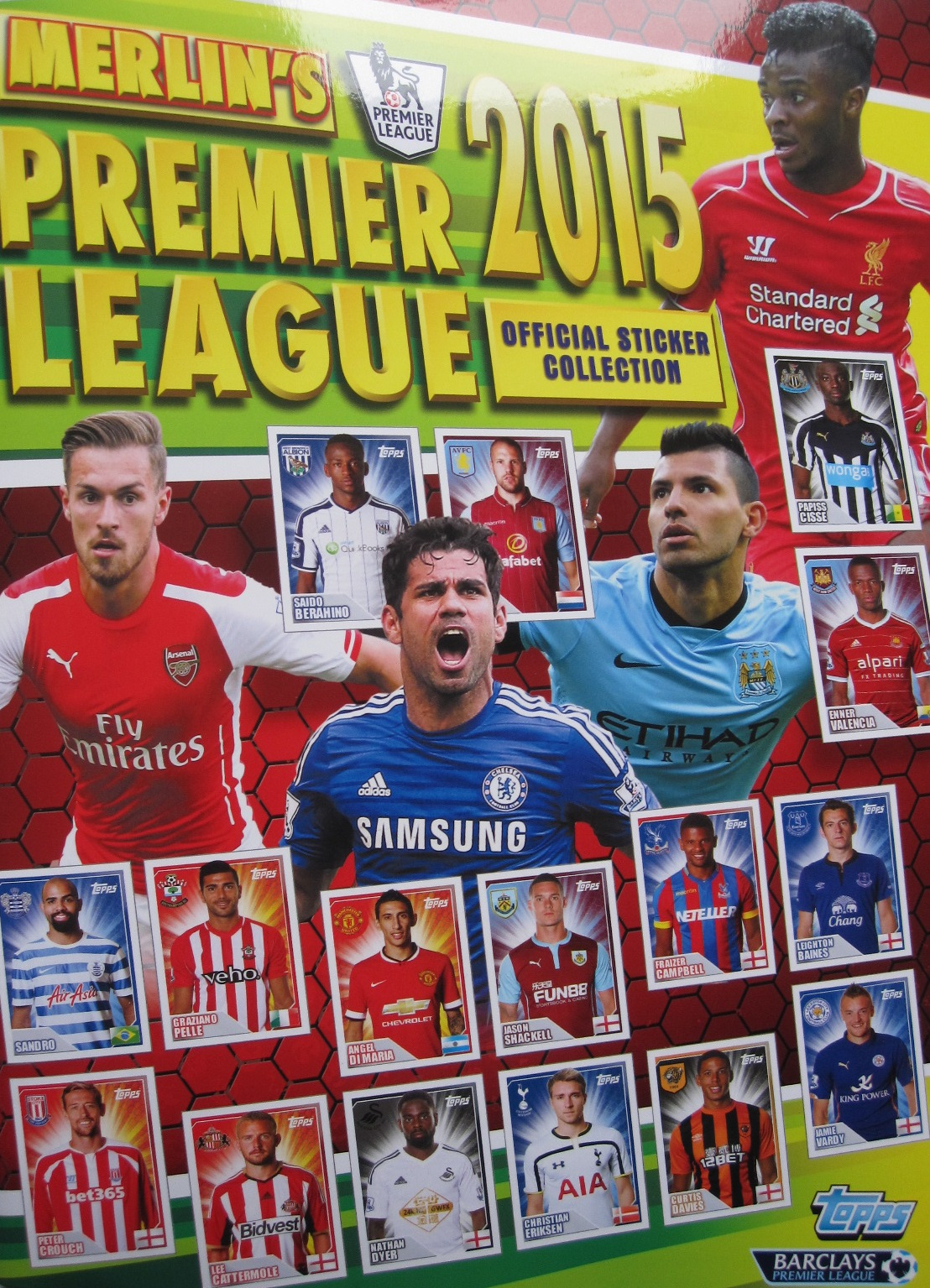 2014-15 Topps Premier League Sticker Collection Checklist