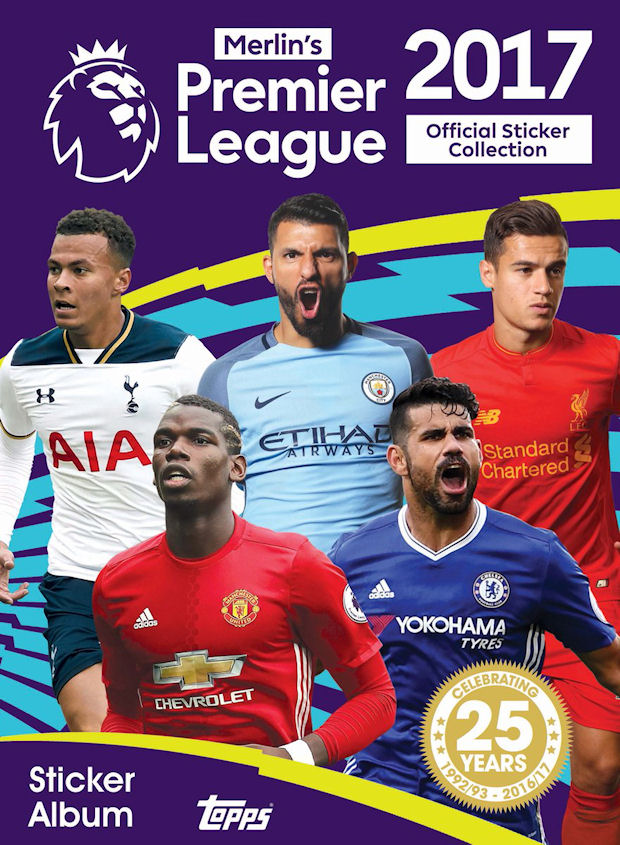 2016-17 Topps Premier League Sticker Collection Checklist