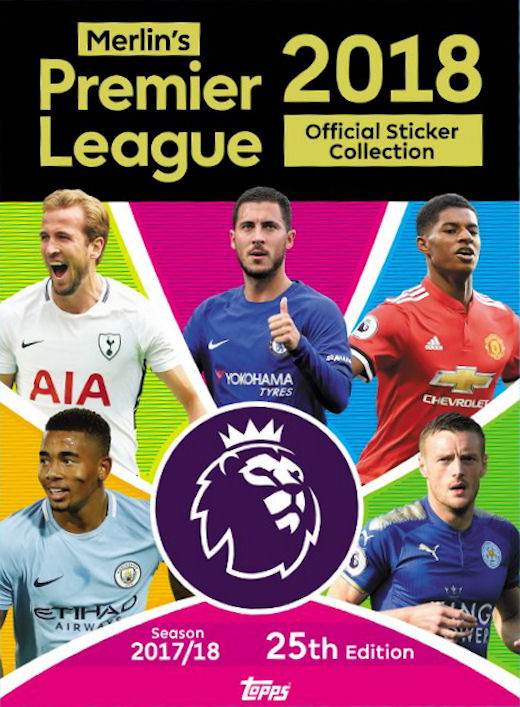 2017-18 Topps Premier League Sticker Collection Checklist