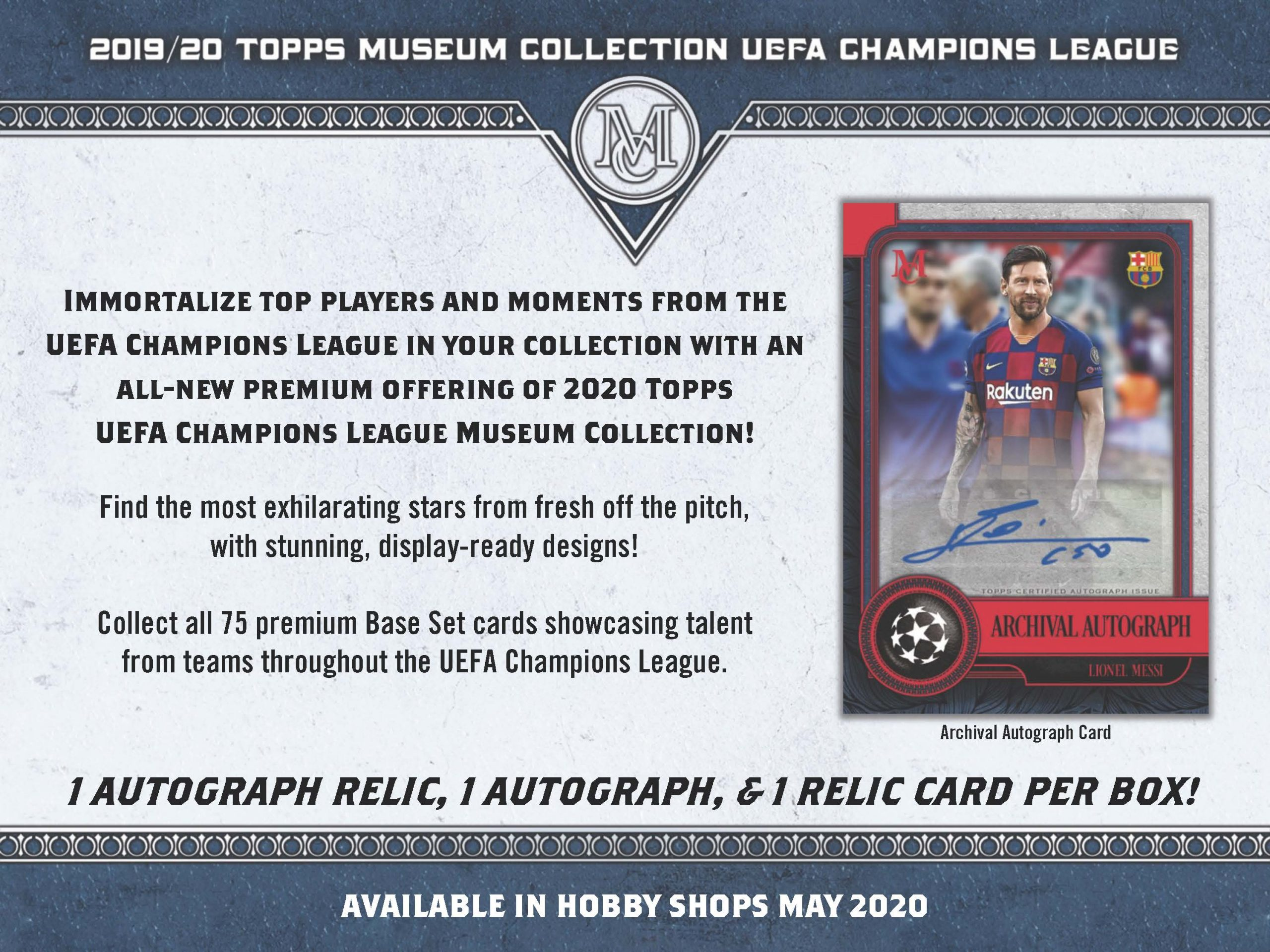 2019-20 Topps Museum Collection UEFA Champions League Soccer Checklist