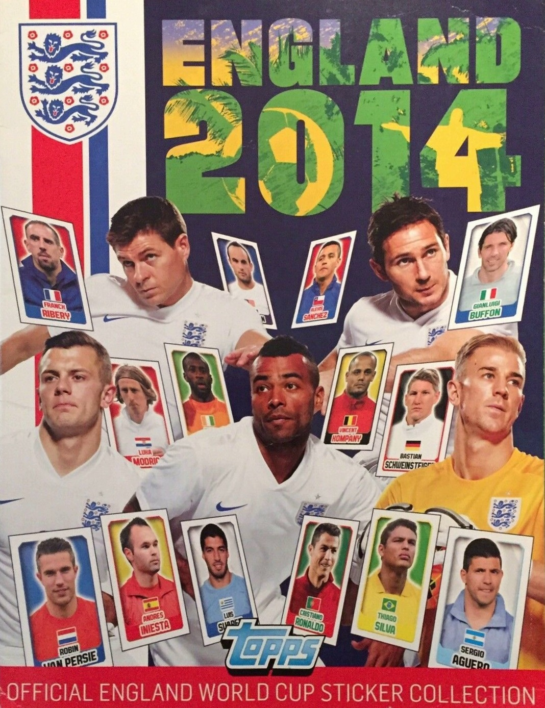 2014 Topps England Sticker Collection Checklist