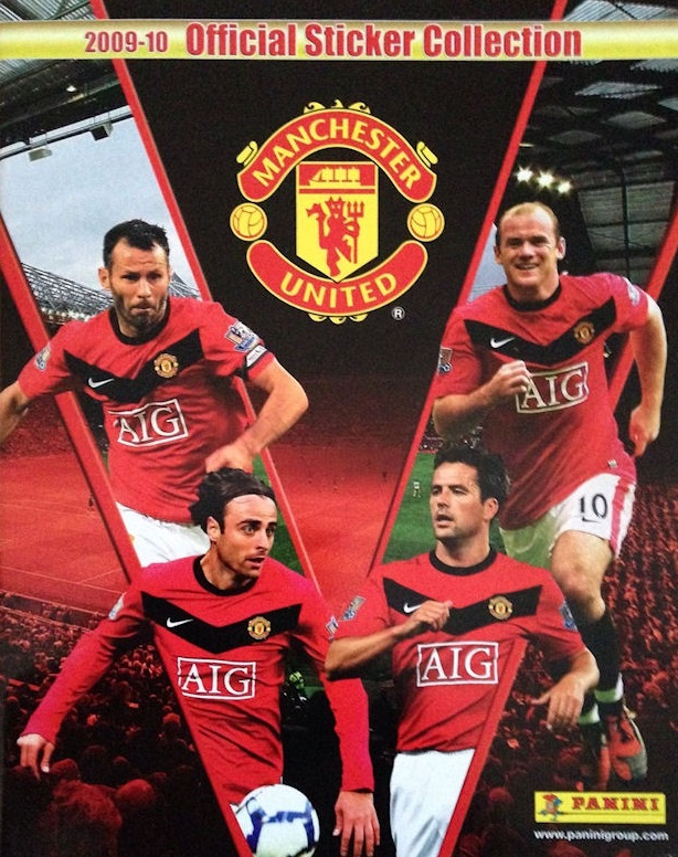 2009-10 Panini Manchester United Sticker Collection Checklist