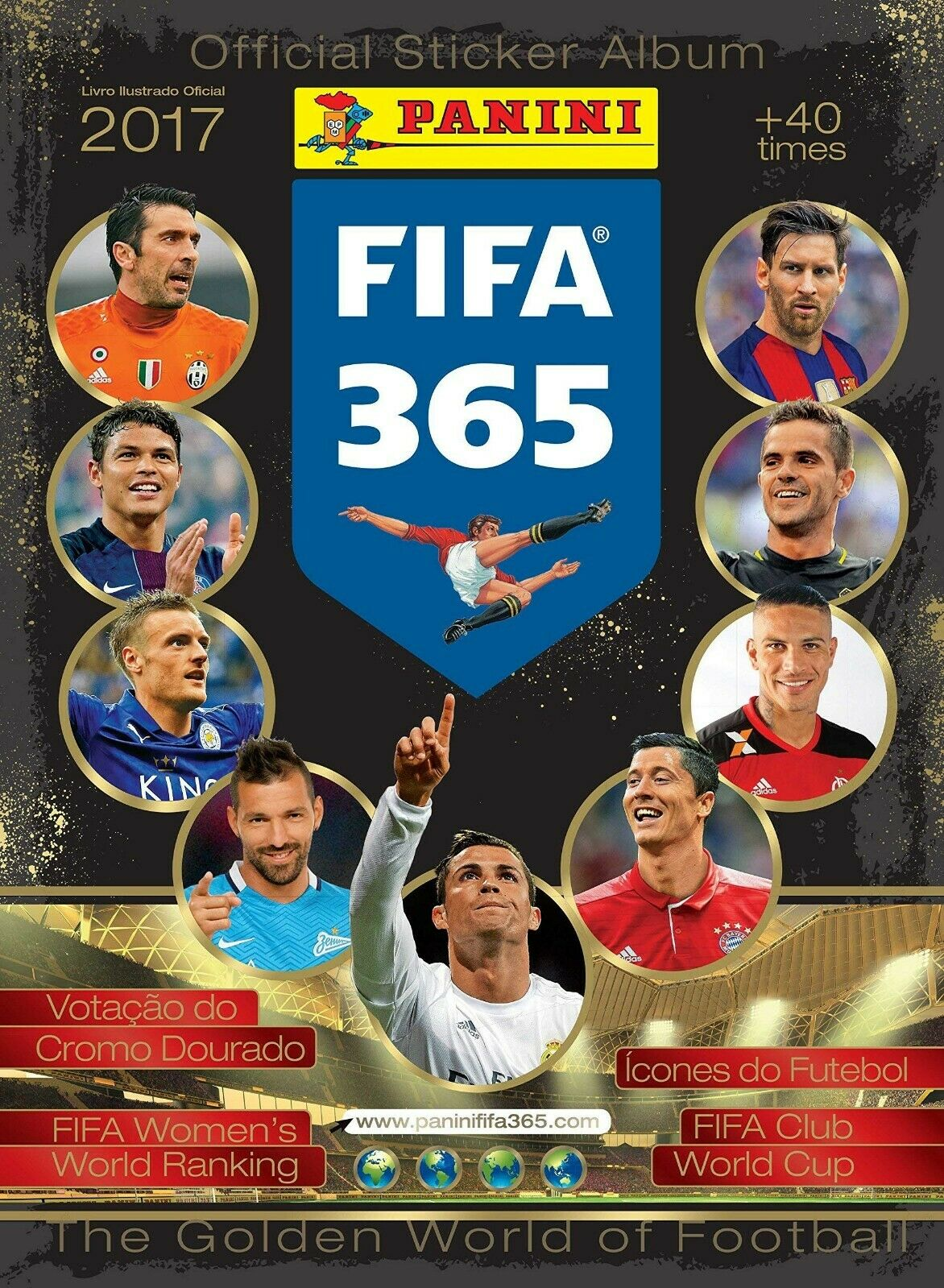 2017 Panini FIFA 365 The Golden World of Football Sticker Collection Checklist